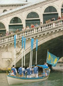 Draper's Shallop with oars raised