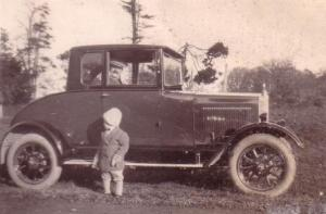 HW Neville in his car about 1927
