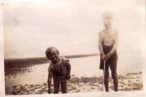 Martin and Michael Neville as small children