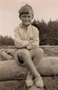 Martin Neville as a boy