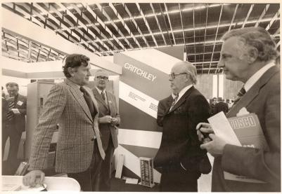 Martin Neville working at an international exhibition