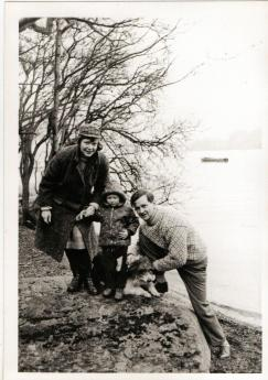 Mum, me, Dad and Luppy in 1963
