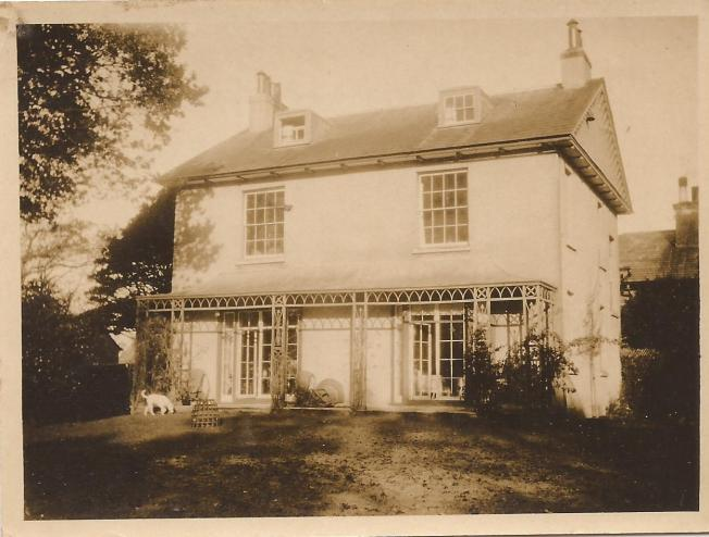 William Gardner's home, Woodend, Lymington, 1930, where Marjori